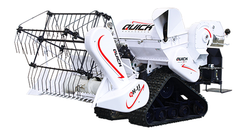 mesin panen padi quick combine harvester traktor